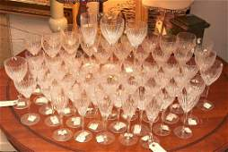 Extensive collection of (63) cut glass stemware