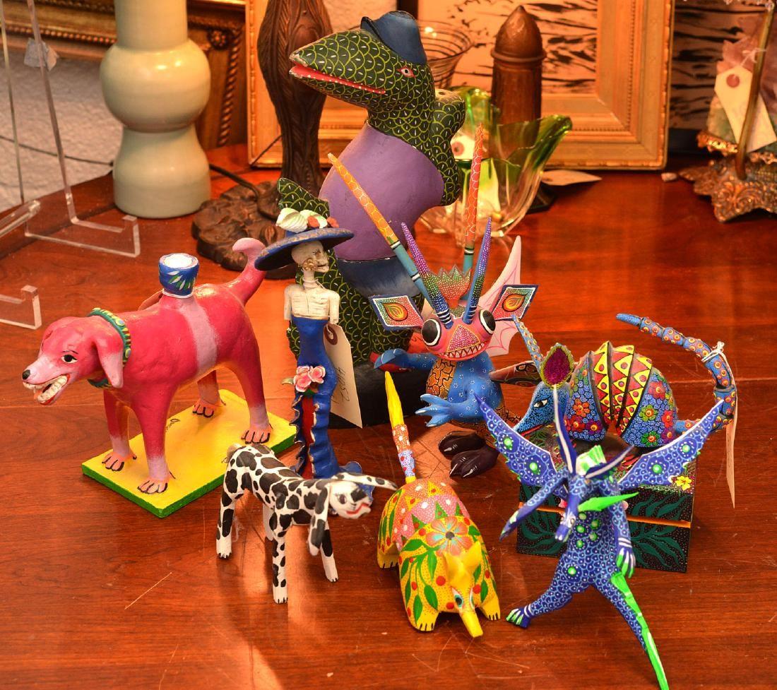 (8) Mexican Oaxacan Folk Art figures
