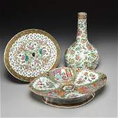 (3) Chinese Export famille rose porcelains
