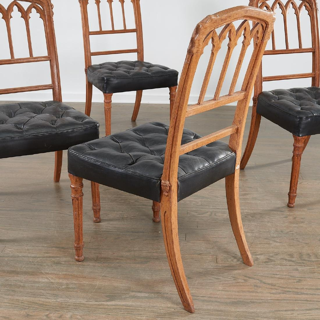 Set (4) Victorian Gothic Revival side chairs - 6