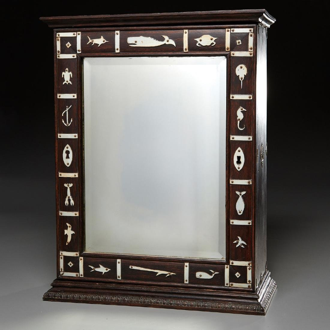 Nantucket style Folk Art apothecary cabinet