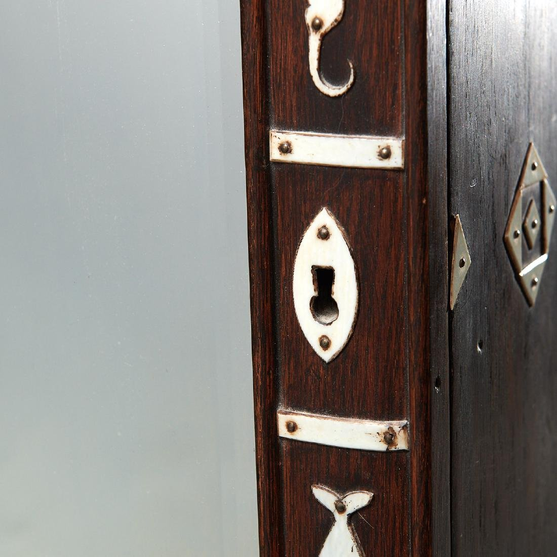 Nantucket style Folk Art apothecary cabinet - 3