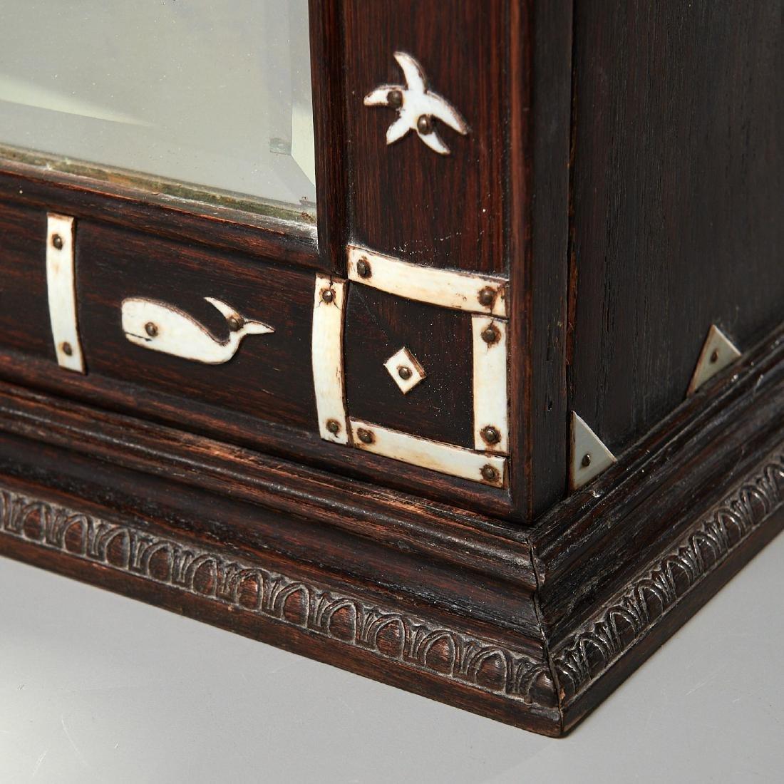Nantucket style Folk Art apothecary cabinet - 4
