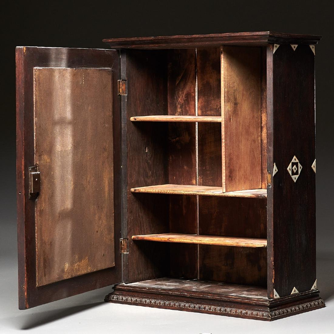 Nantucket style Folk Art apothecary cabinet - 5