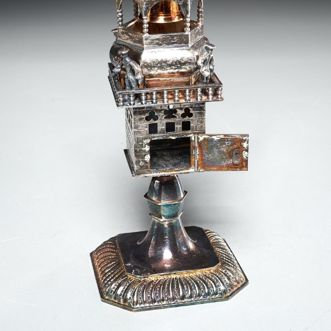 Continental silver Besamim spice box - 4