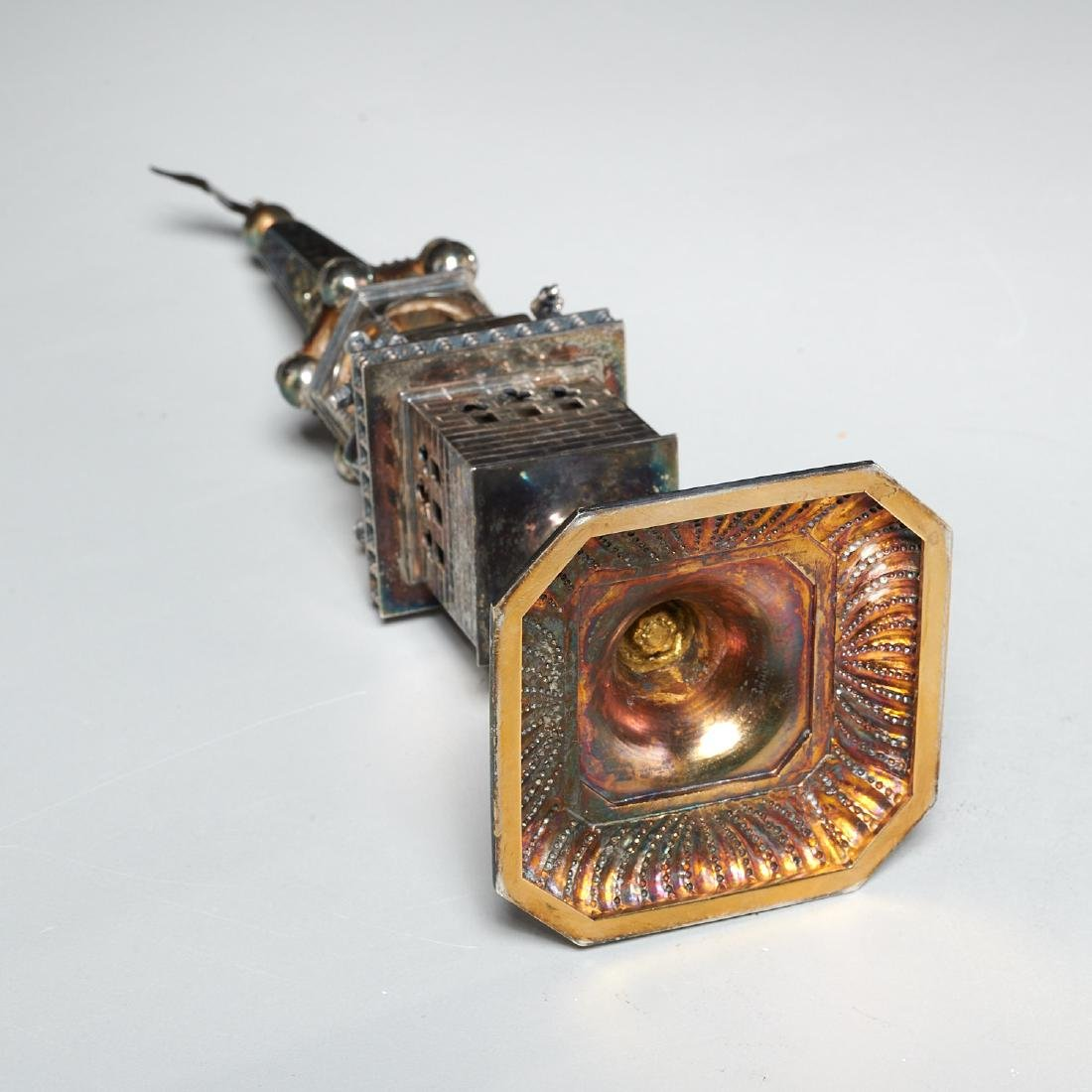 Continental silver Besamim spice box - 5