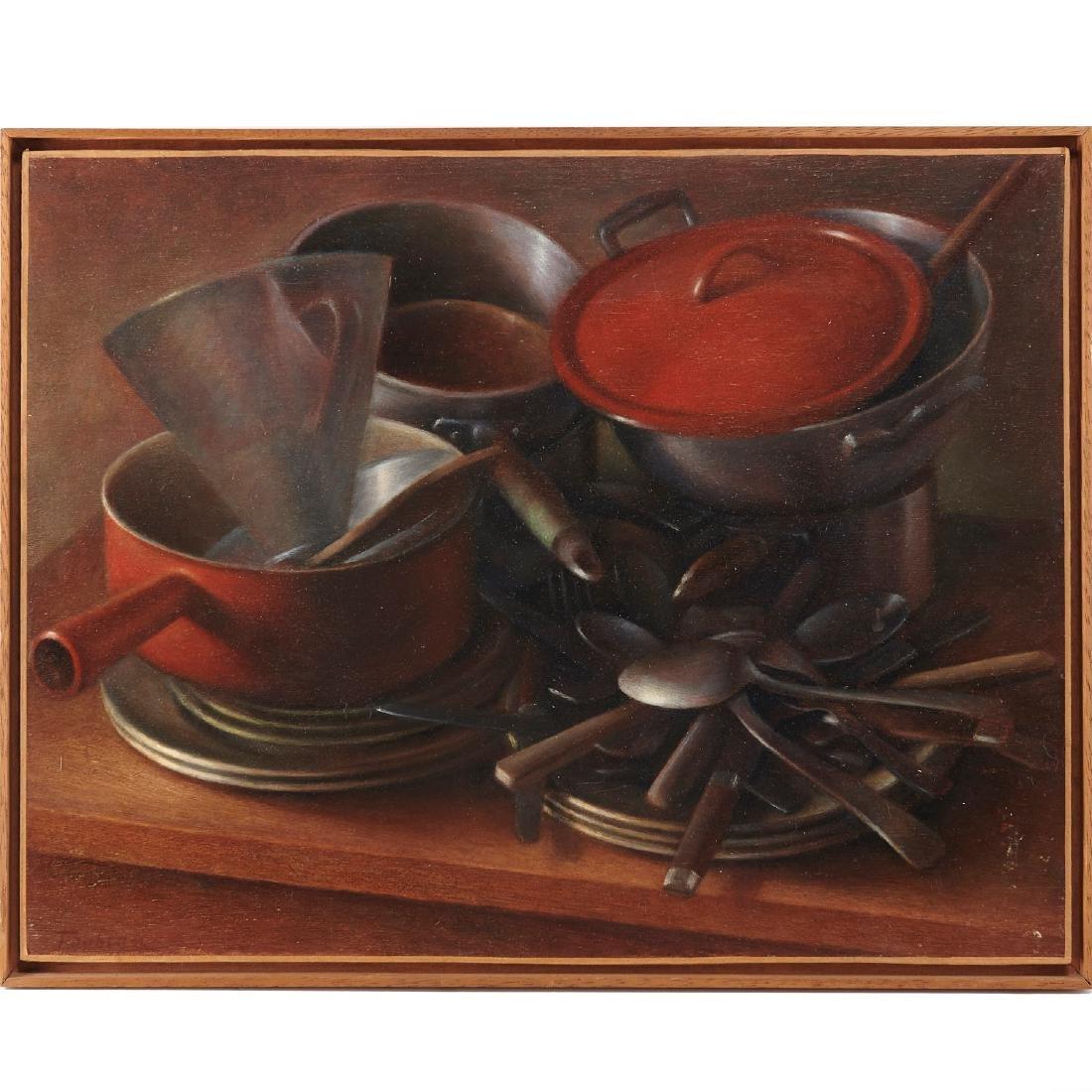 Jean-Max Toubeau, Still-life: Pots/Pans, c. 1970s