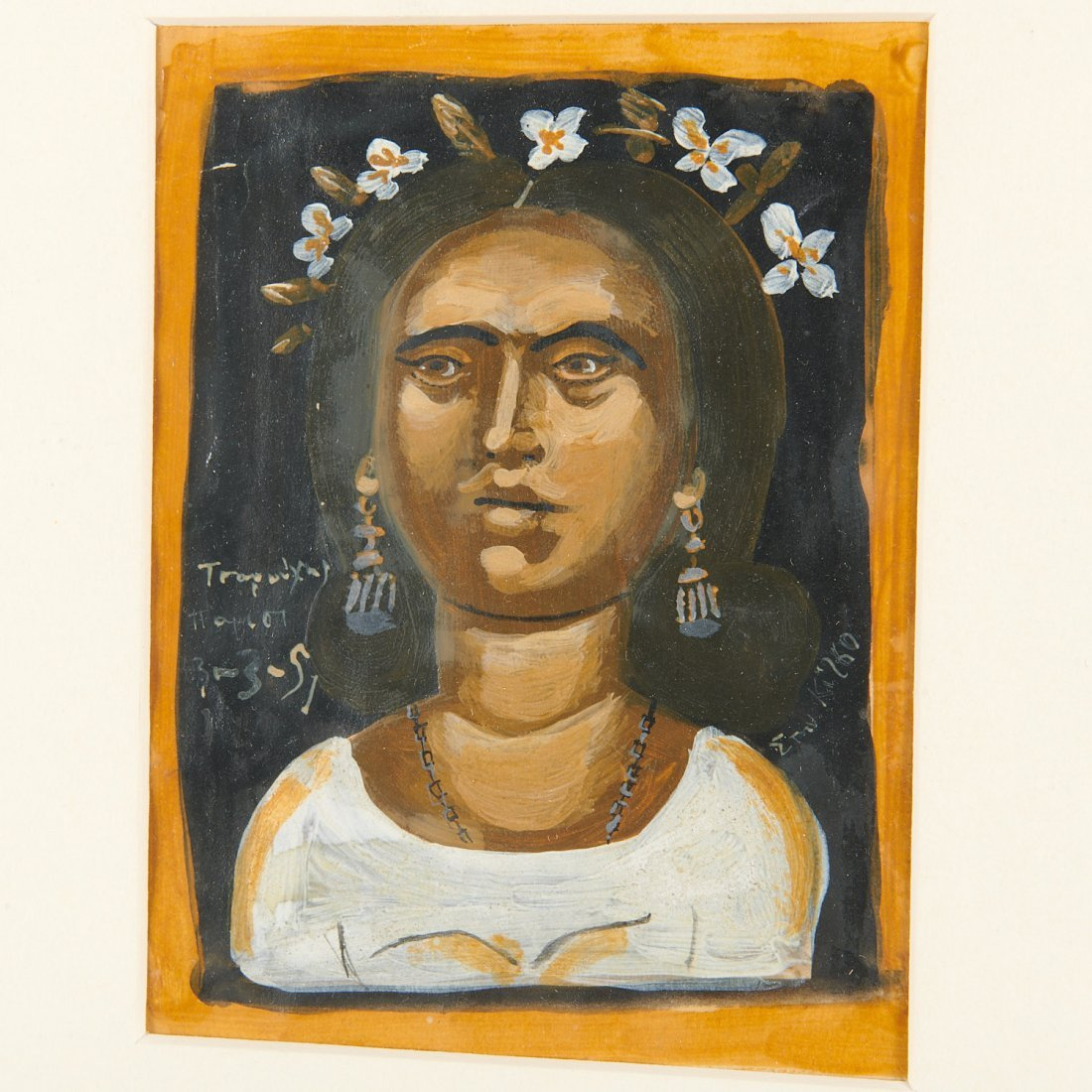 Yiannis Tsarouchis, Portrait of a woman, 1951 - 3