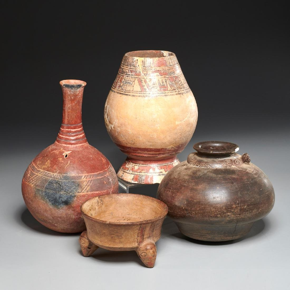 Group (4) Pre-Columbian terracotta vessels