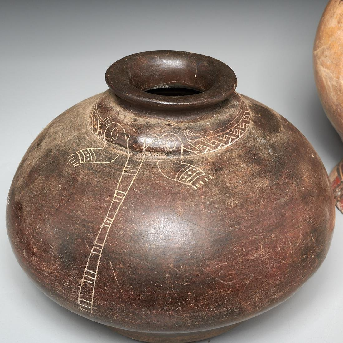Group (4) Pre-Columbian terracotta vessels - 8