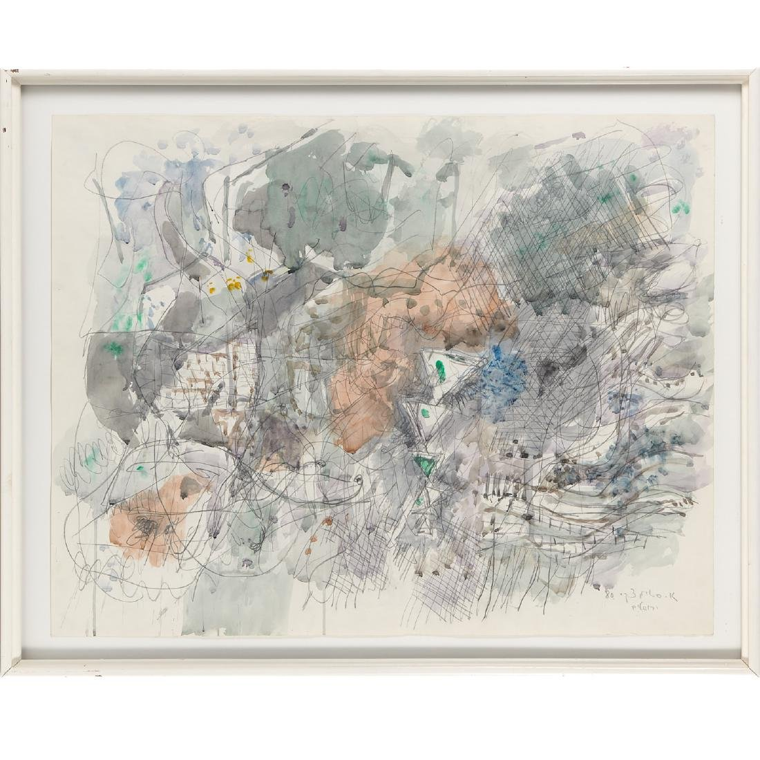 Avigdor Stematzky, Abstract Landscape, 1980