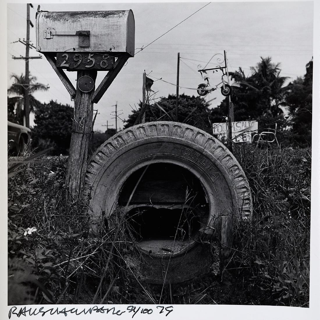 Robert Rauschenberg, Mailbox and Tire, 1979 - 2