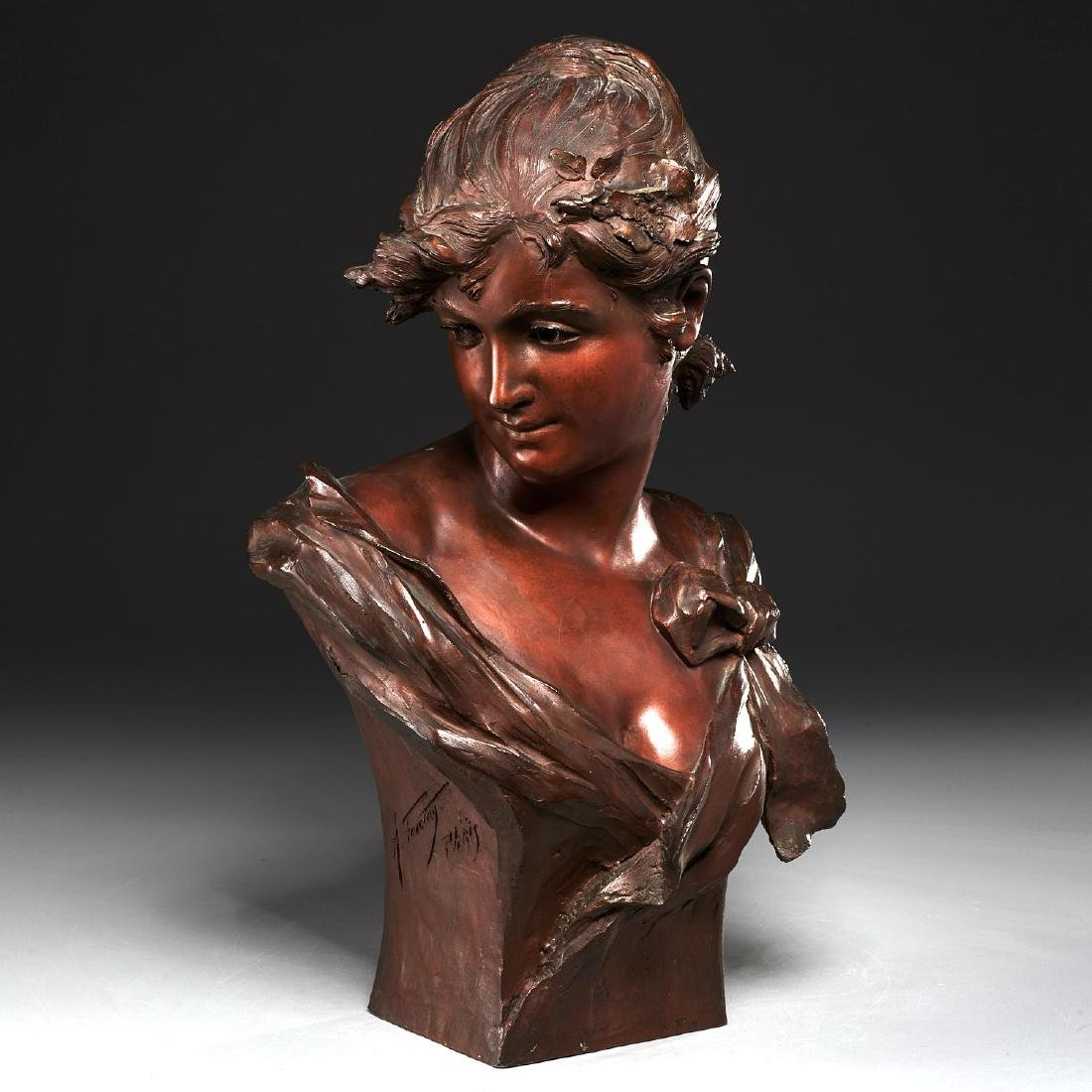 Alfred Jean Foretay, Bust of Woman, c. 1890