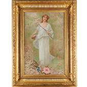 Charles A. Lenoir (circle), Portrait of a Woman