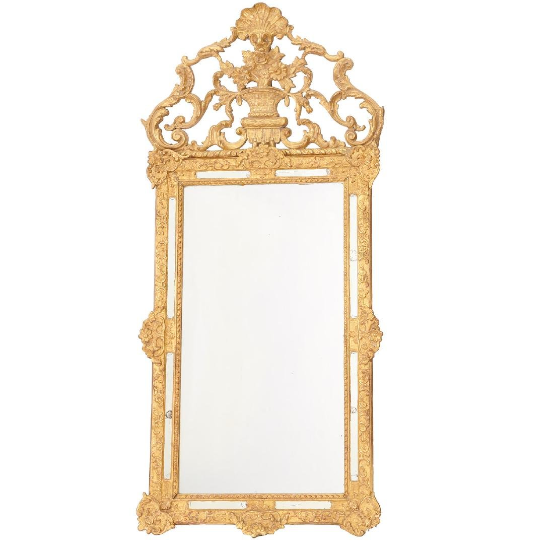 Old Regence style giltwood pier mirror