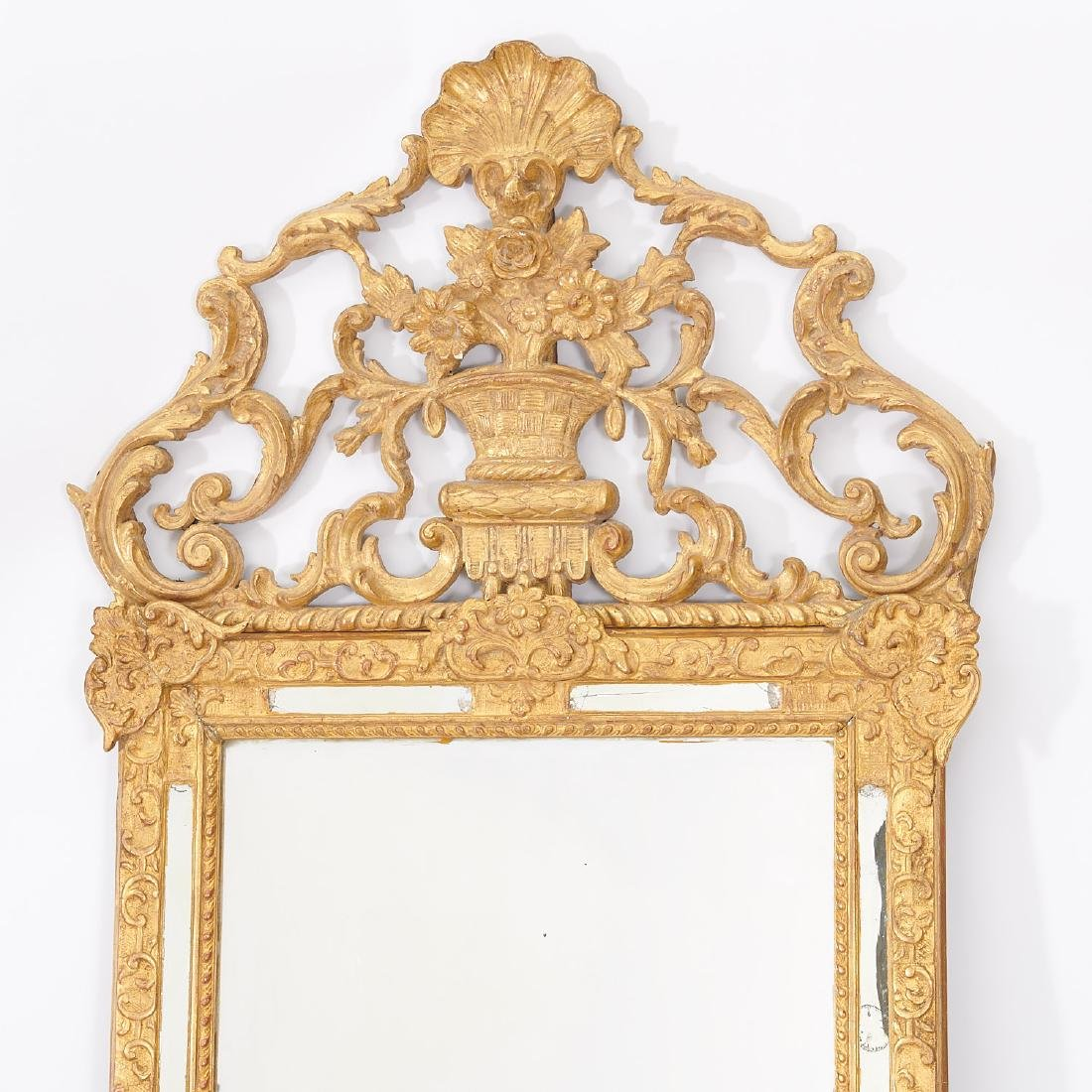 Old Regence style giltwood pier mirror - 2
