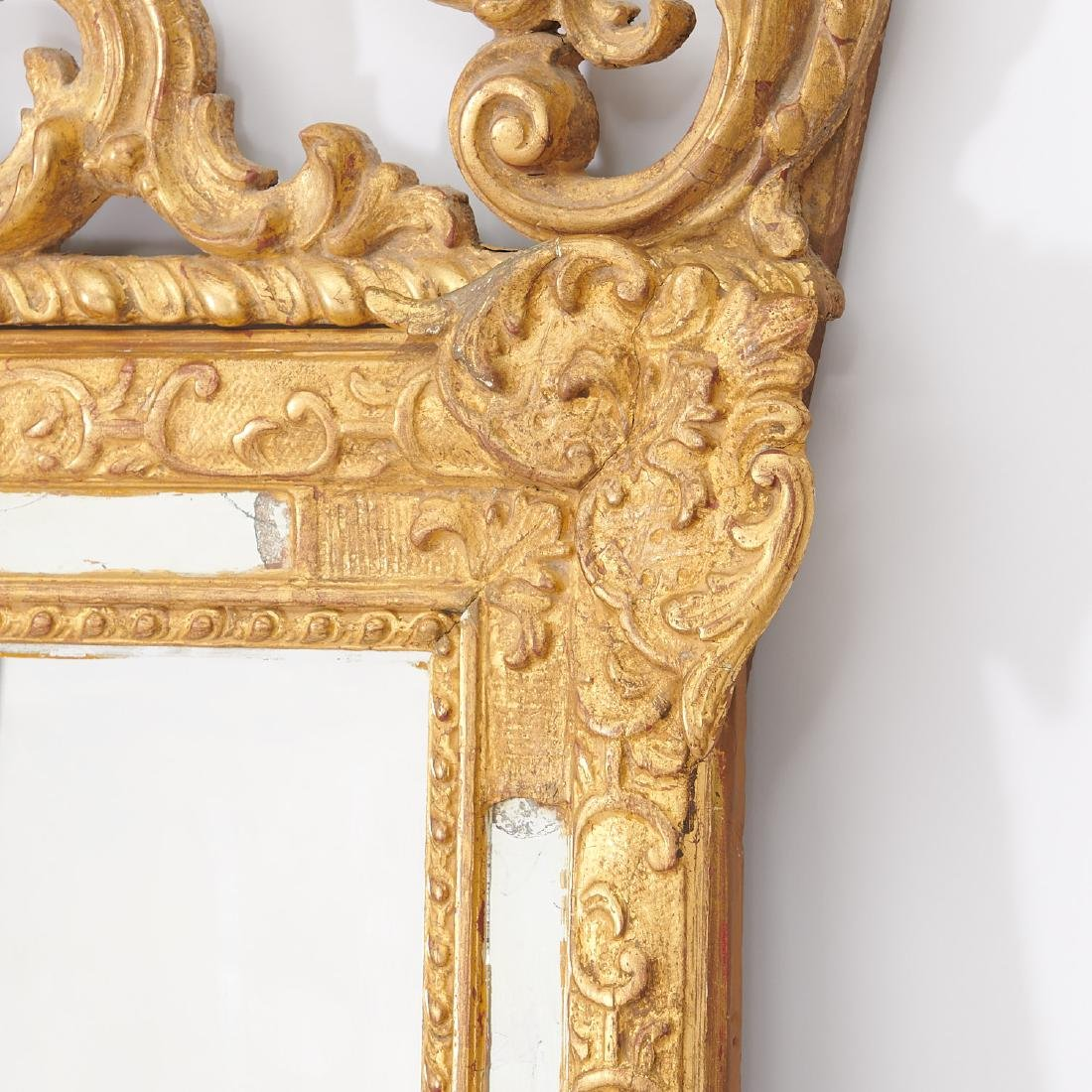 Old Regence style giltwood pier mirror - 3