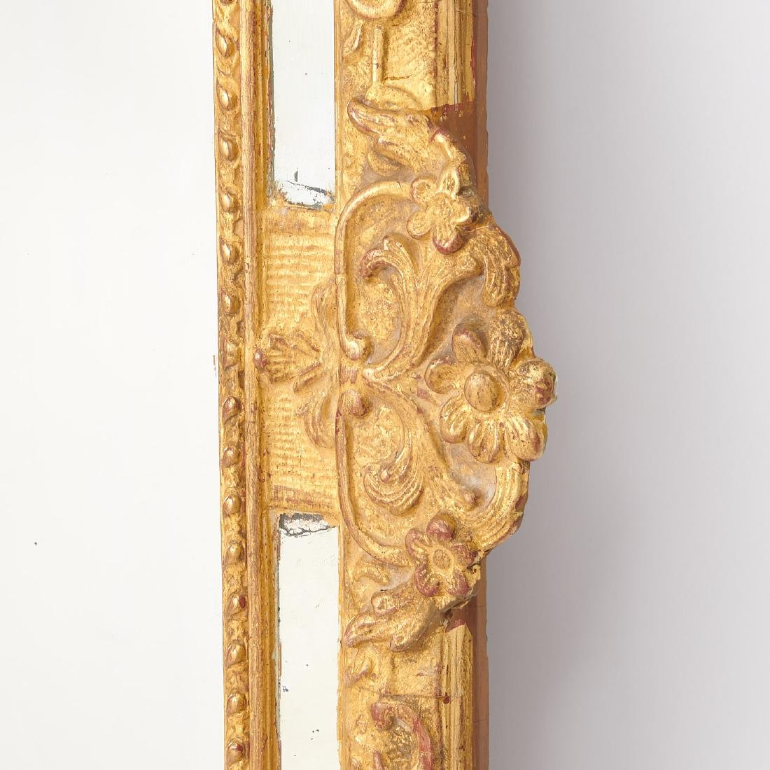 Old Regence style giltwood pier mirror - 4