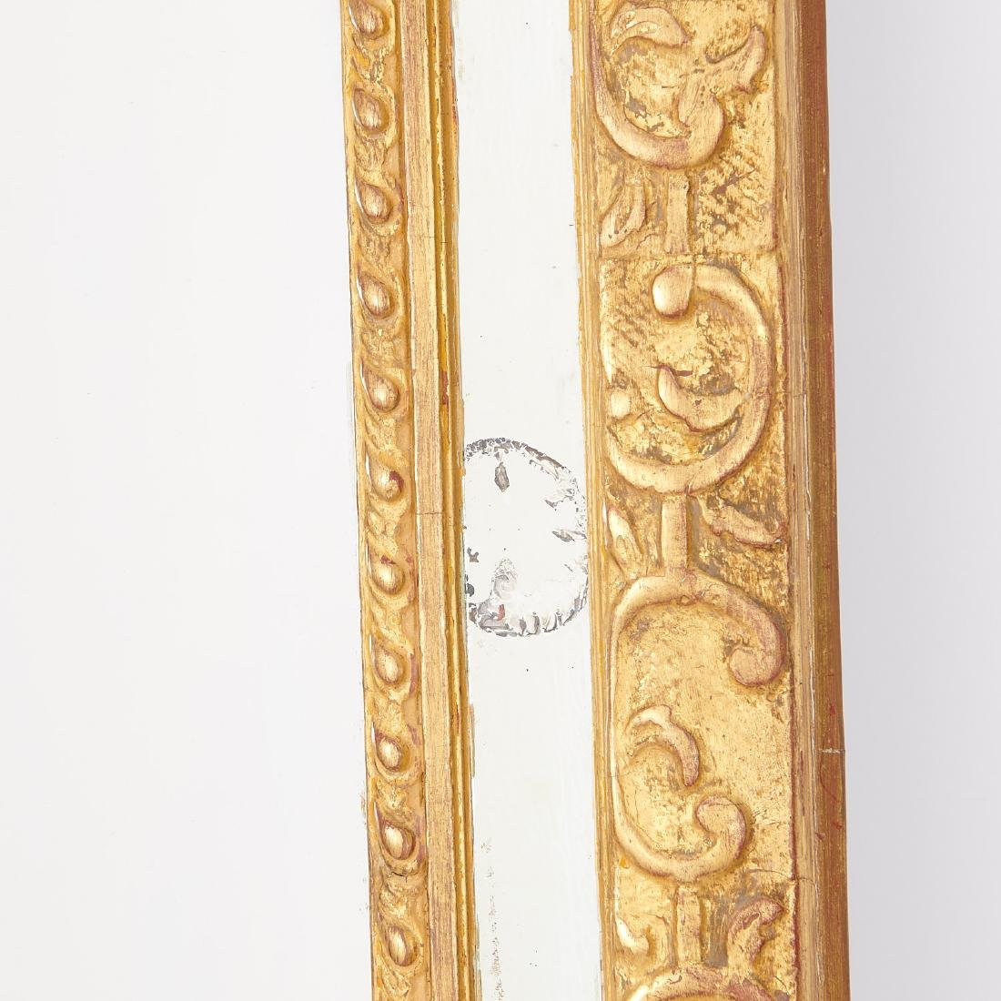 Old Regence style giltwood pier mirror - 5