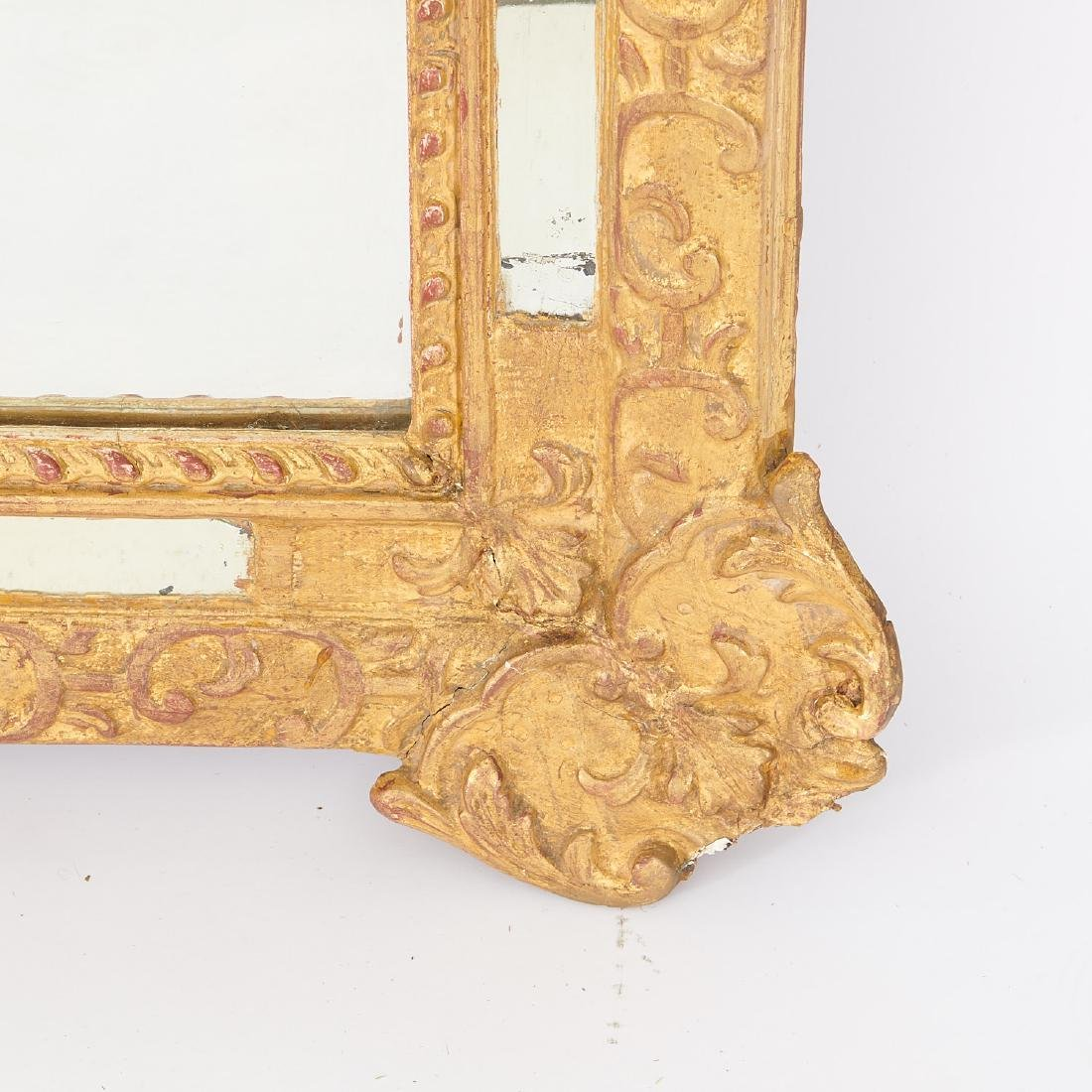 Old Regence style giltwood pier mirror - 7