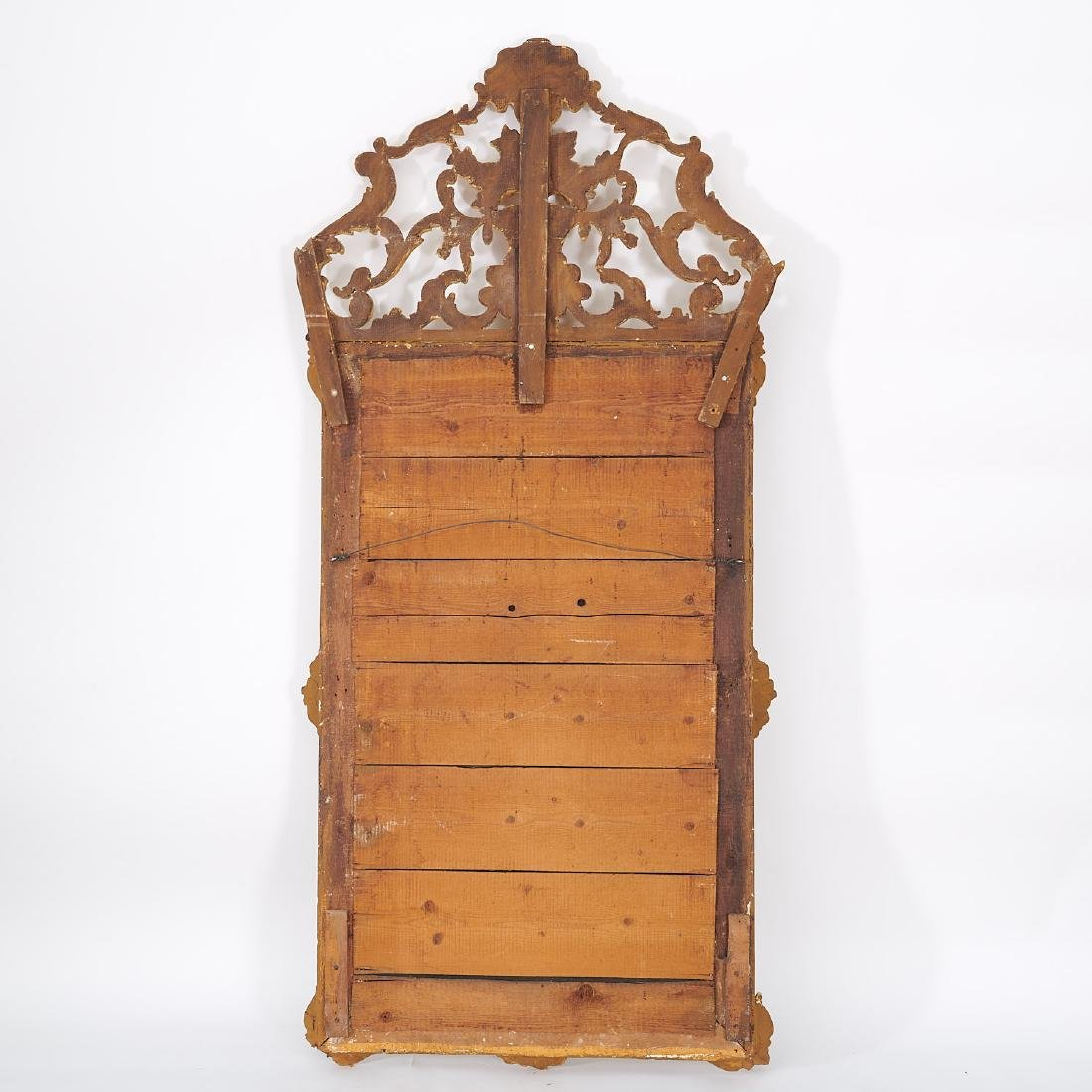 Old Regence style giltwood pier mirror - 8