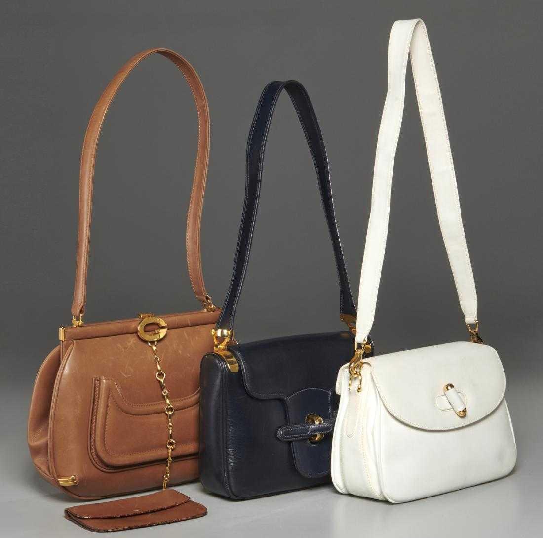 e8e0a17fb99d Group Gucci vintage leather handbags