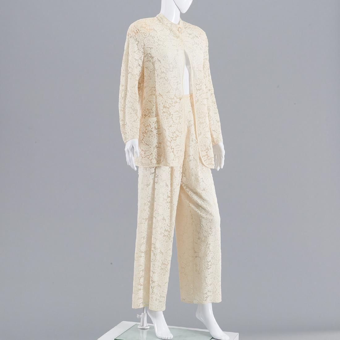 Giorgio Armani lace pants suit
