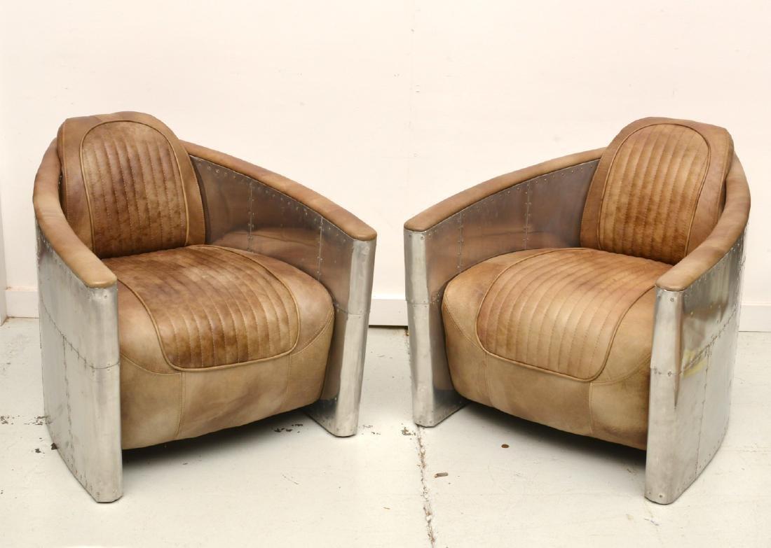 Fabulous Pair Restoration Hardware Aviator Chairs Short Links Chair Design For Home Short Linksinfo