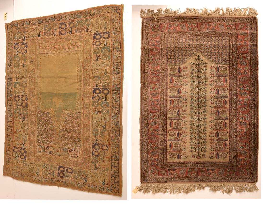 (2) Persian prayer rugs