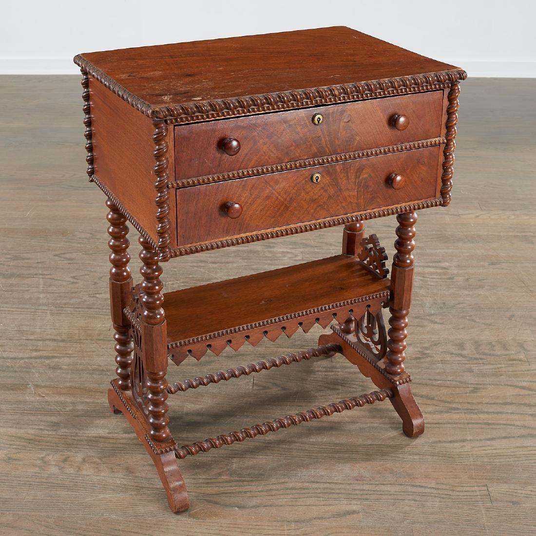 American Aesthetic mahogany work table