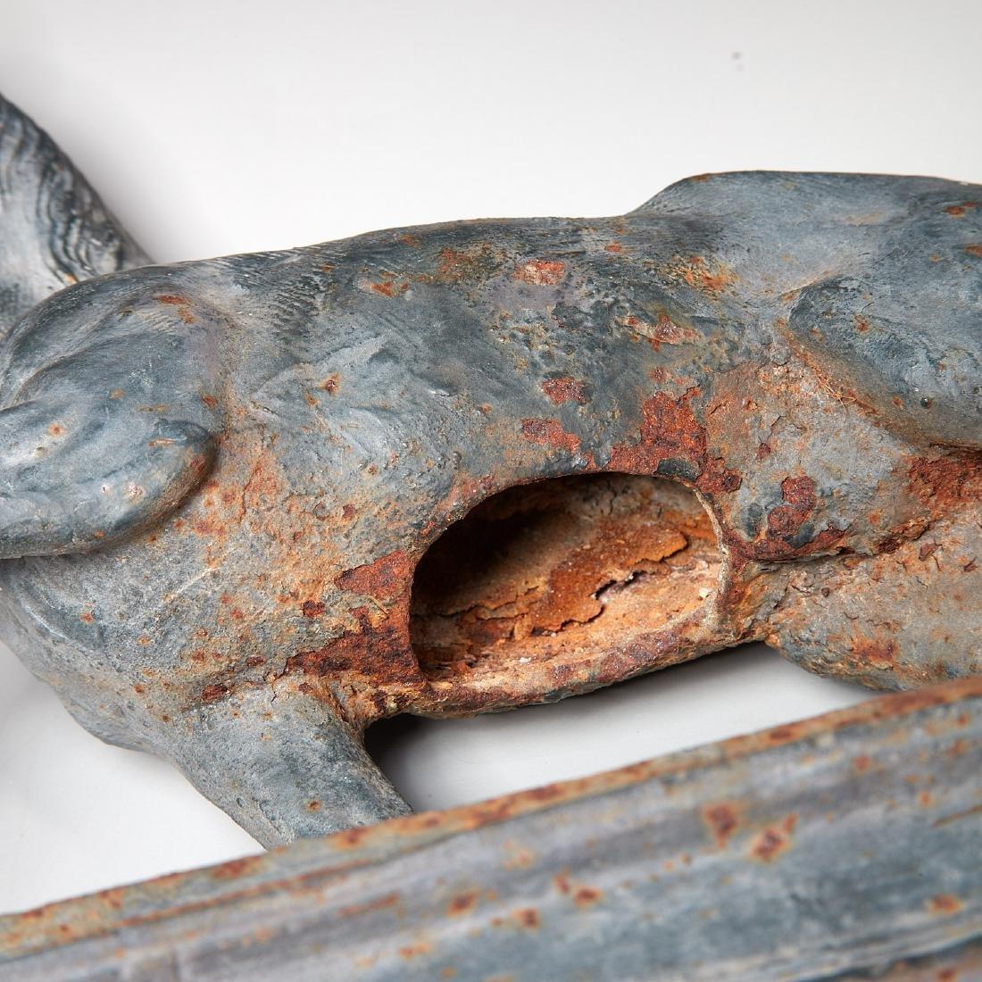 Cast iron horse figure on pedestal - 5