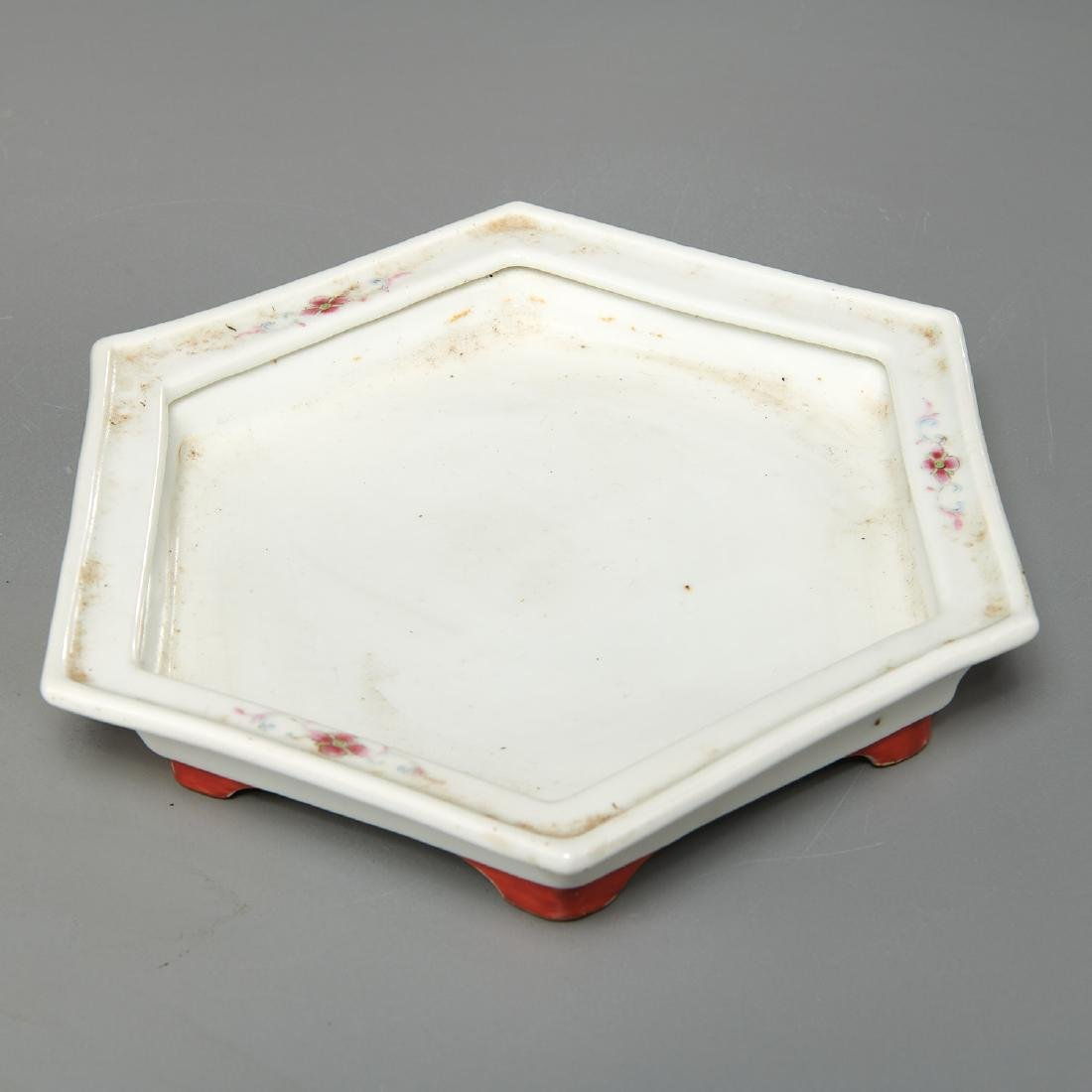 Pair Chinese famille rose porcelain jardinieres - 6