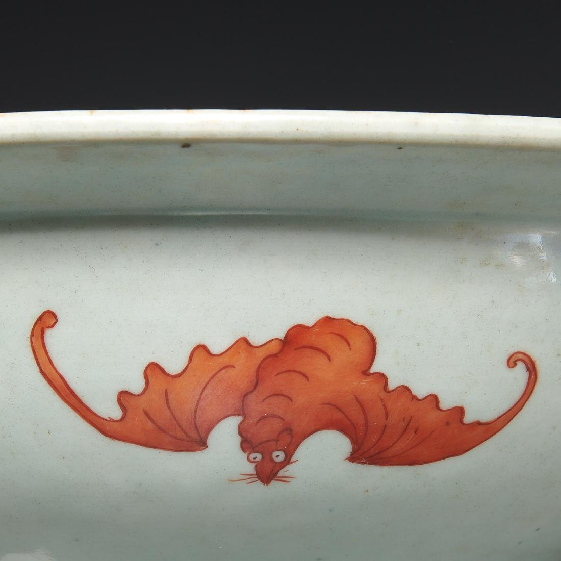 Large Chinese porcelain butterfly bowl - 3