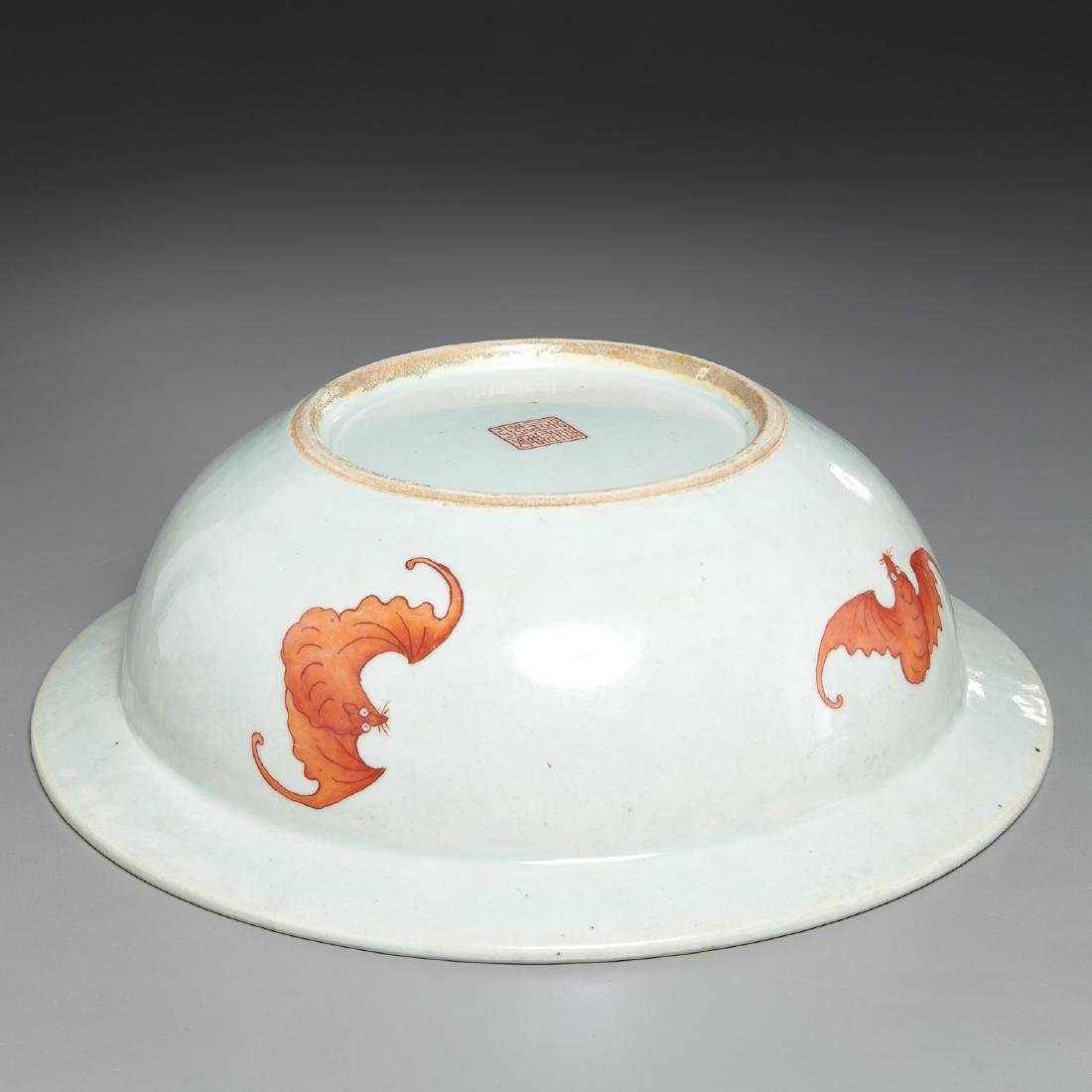 Large Chinese porcelain butterfly bowl - 7