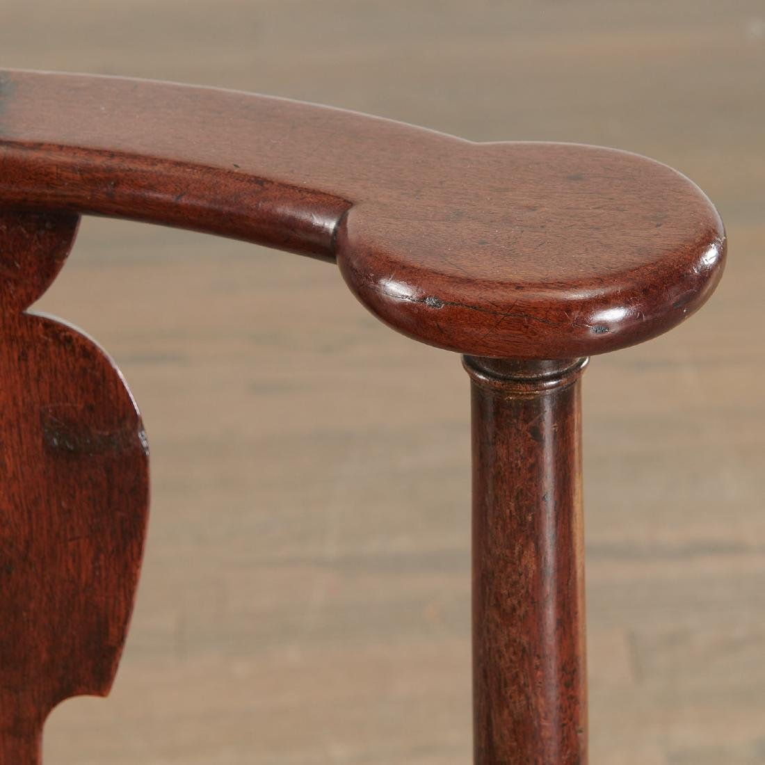 Chippendale carved walnut corner chair - 5