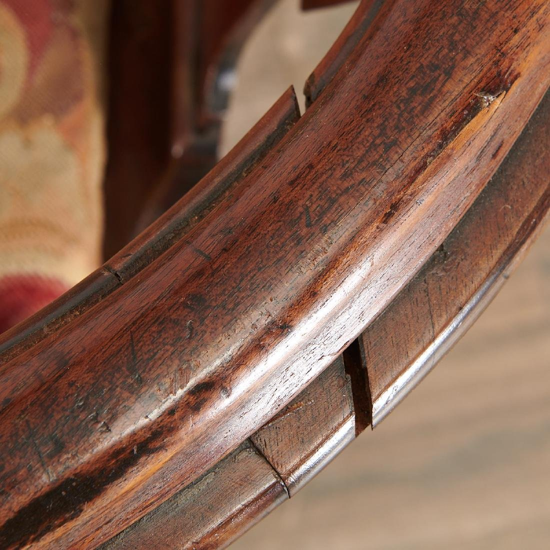 Chippendale carved walnut corner chair - 6