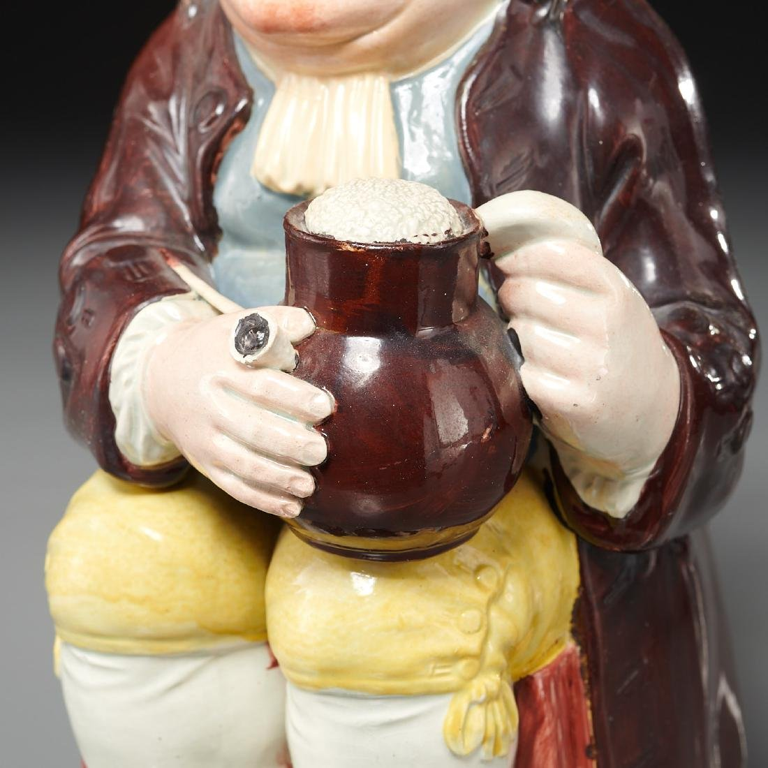 English pearlware Toby jug c. 1800s - 3