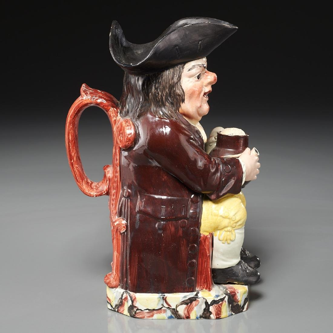 English pearlware Toby jug c. 1800s - 5
