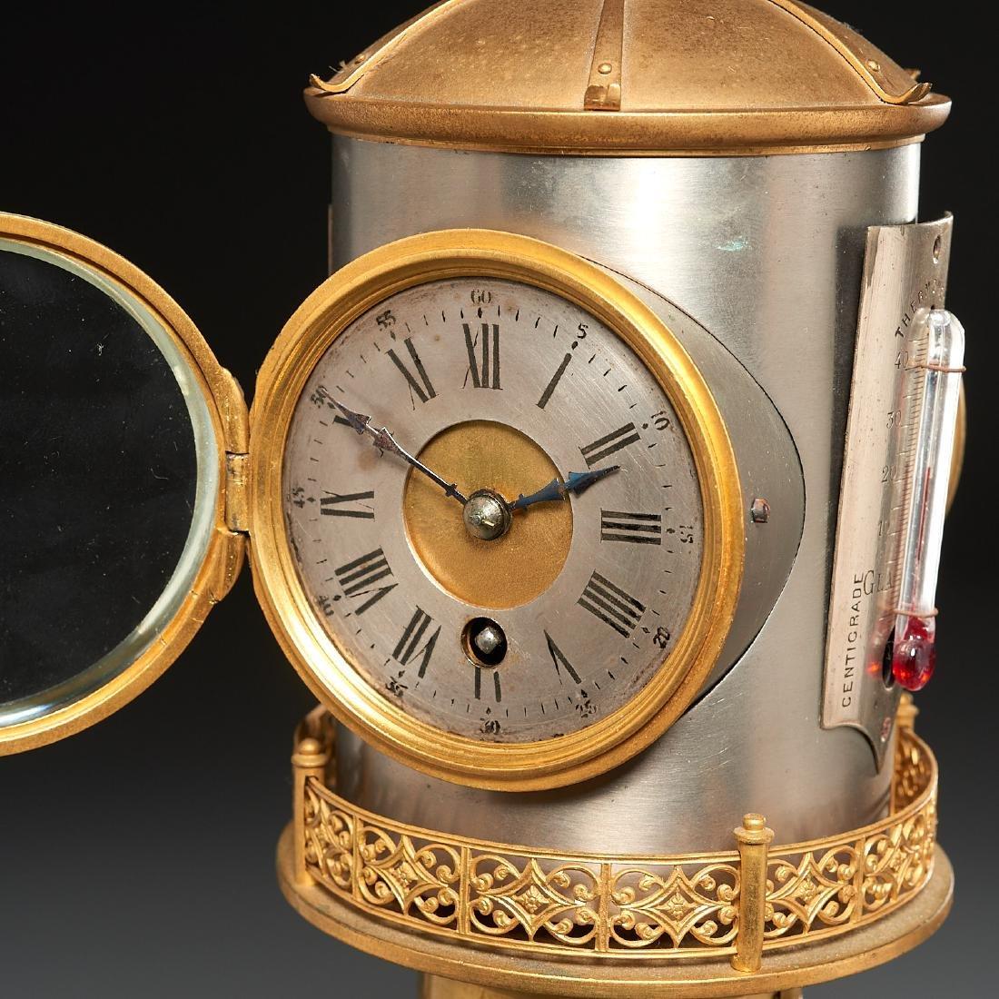 Belle Epoque automaton lighthouse clock barometer - 3