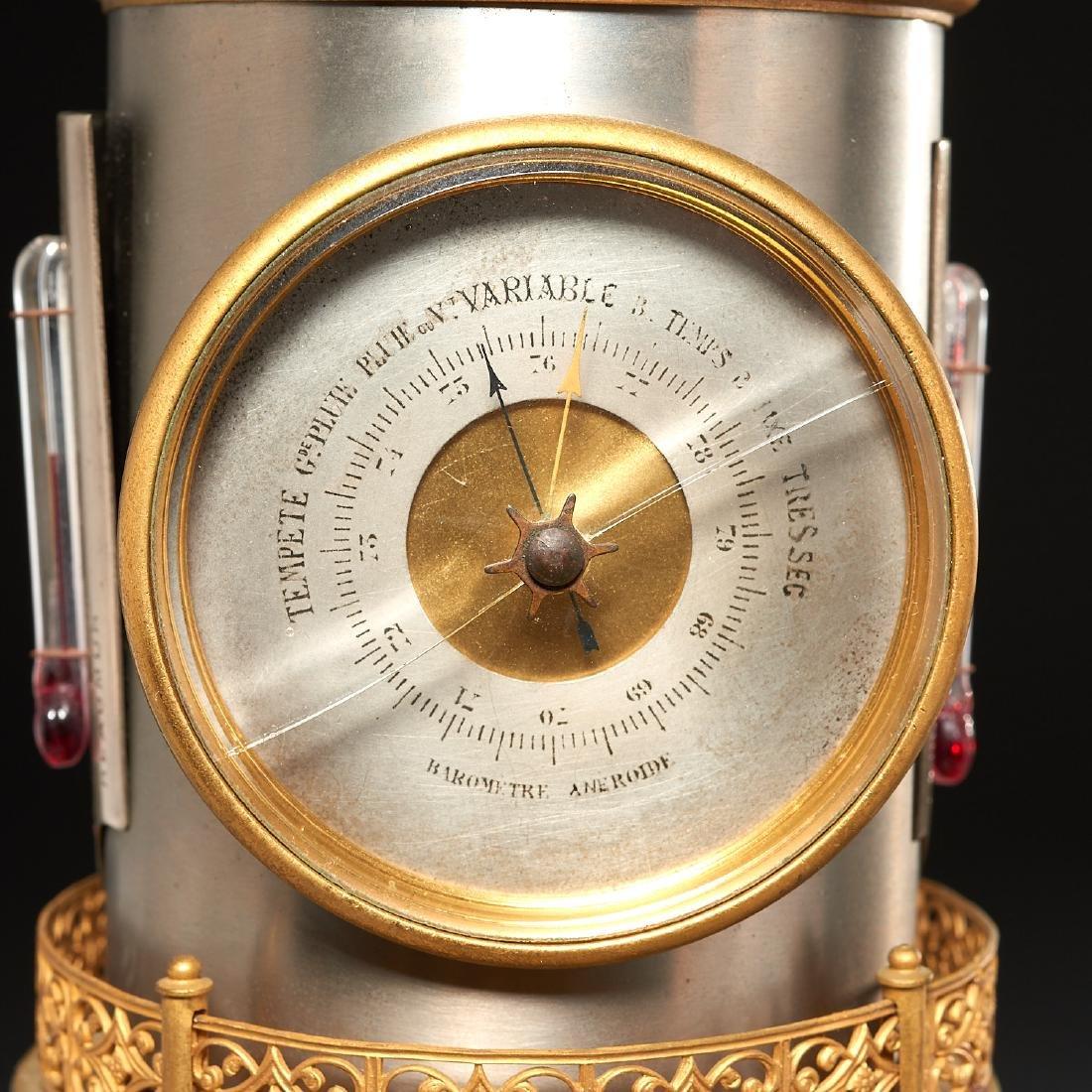 Belle Epoque automaton lighthouse clock barometer - 4