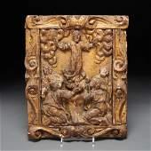 Spanish Colonial School, Resurrection carving