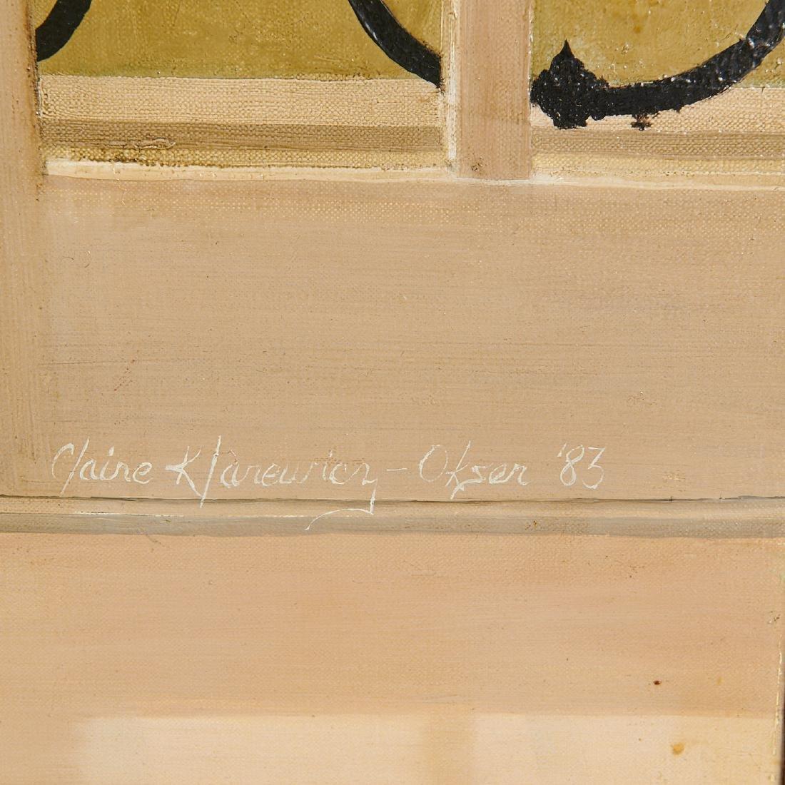 Claire Klarewicz-Okser, large scale painting, 1983 - 9