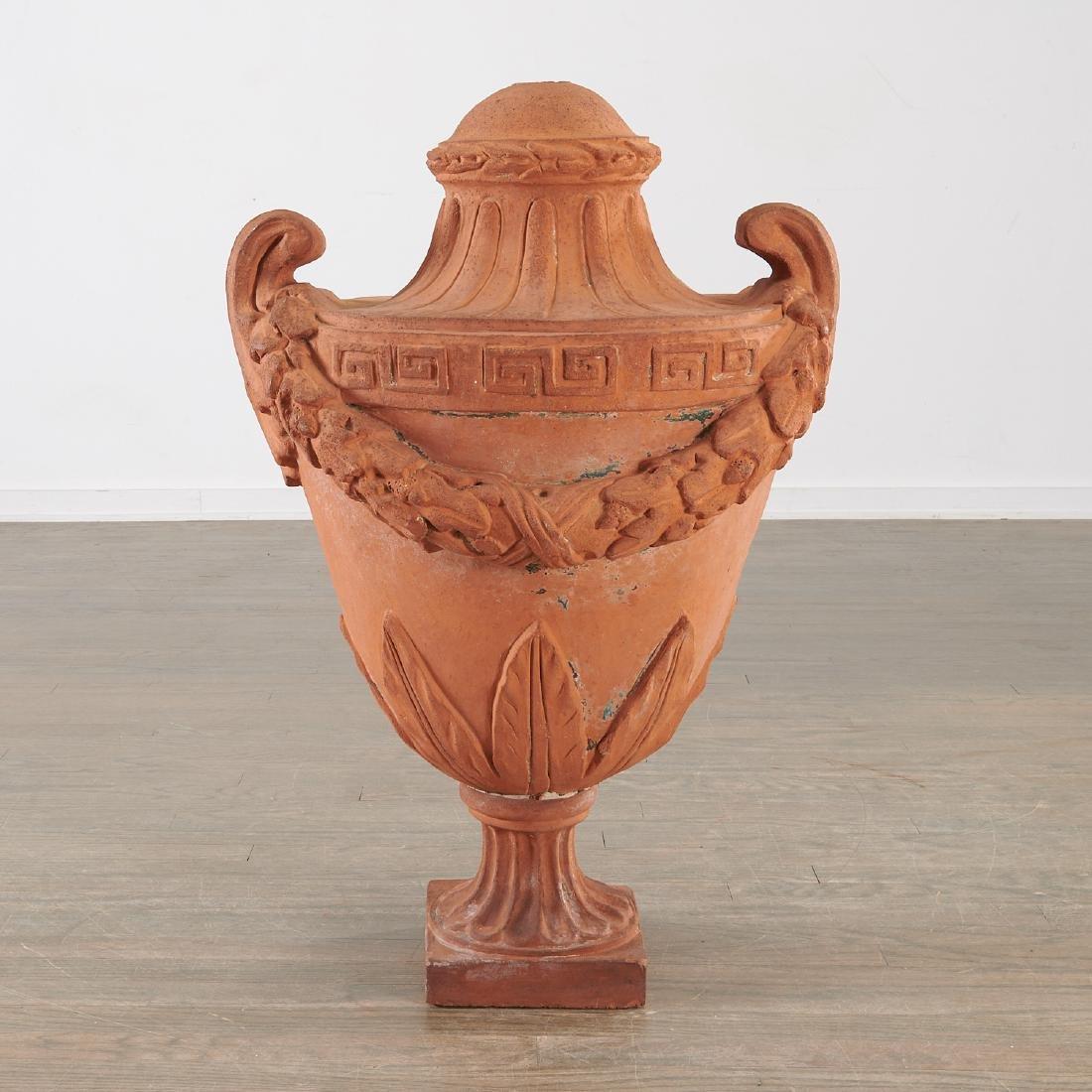 Large terracotta garden urn