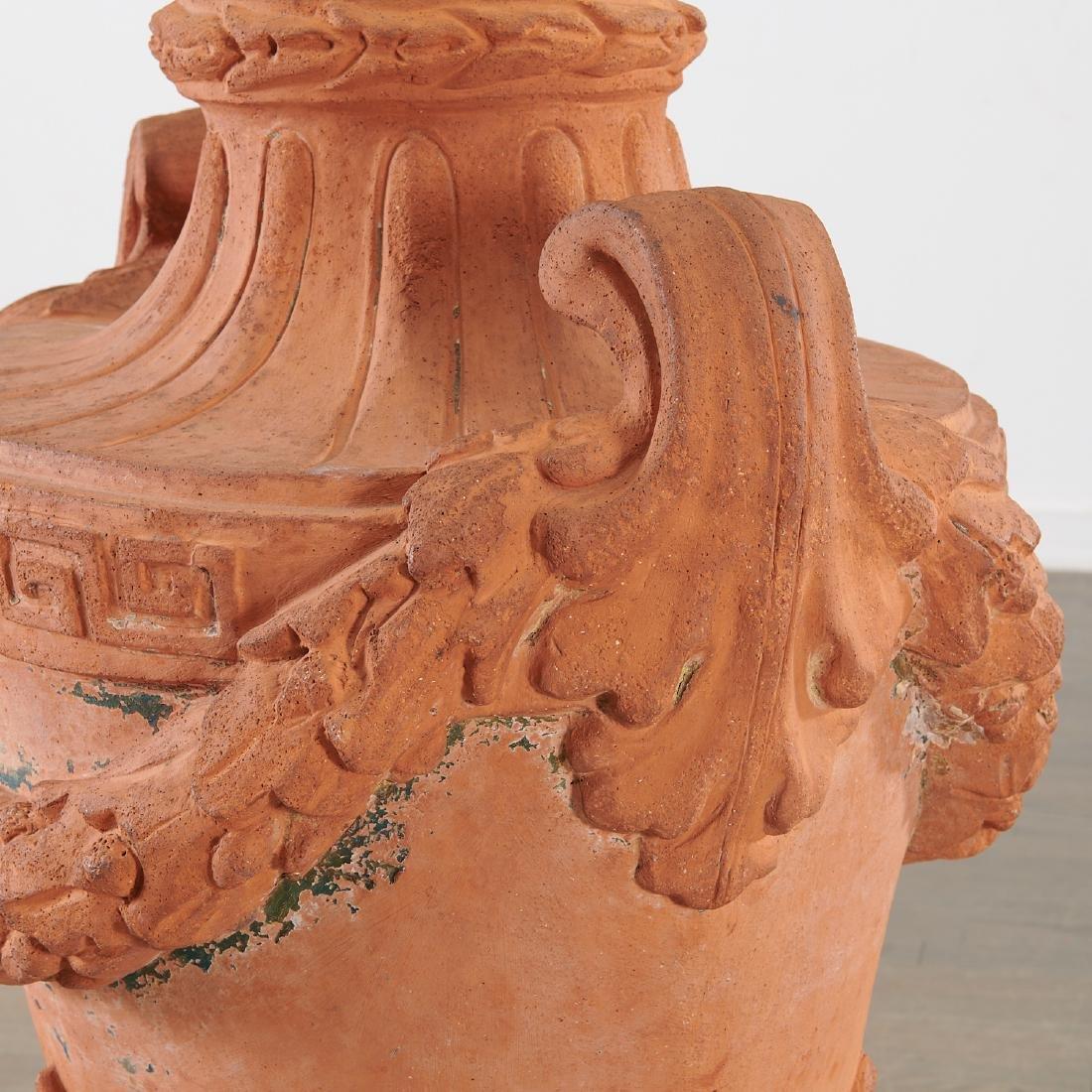 Large terracotta garden urn - 4