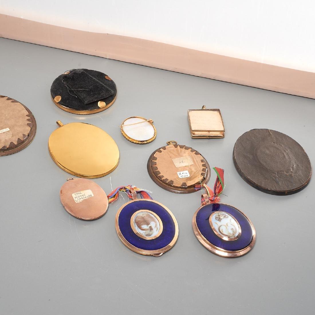 Nice collection European portrait miniatures - 10