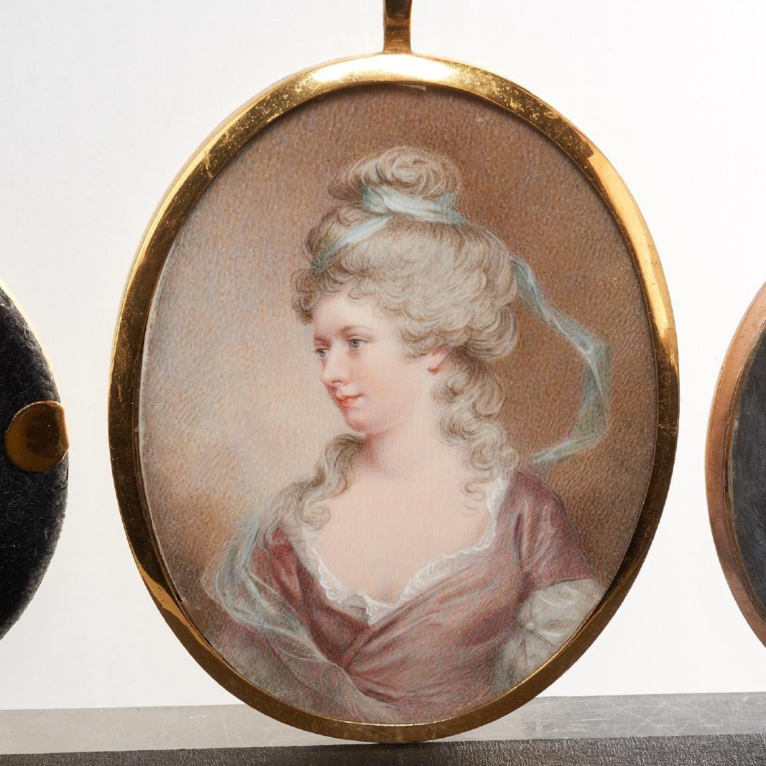 Nice collection European portrait miniatures - 5