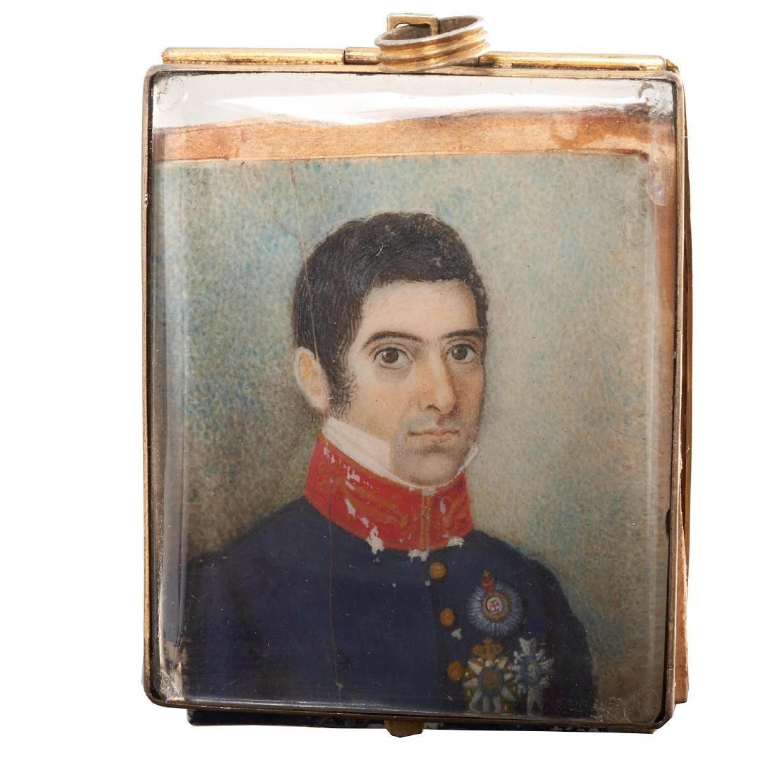 Nice collection European portrait miniatures - 9