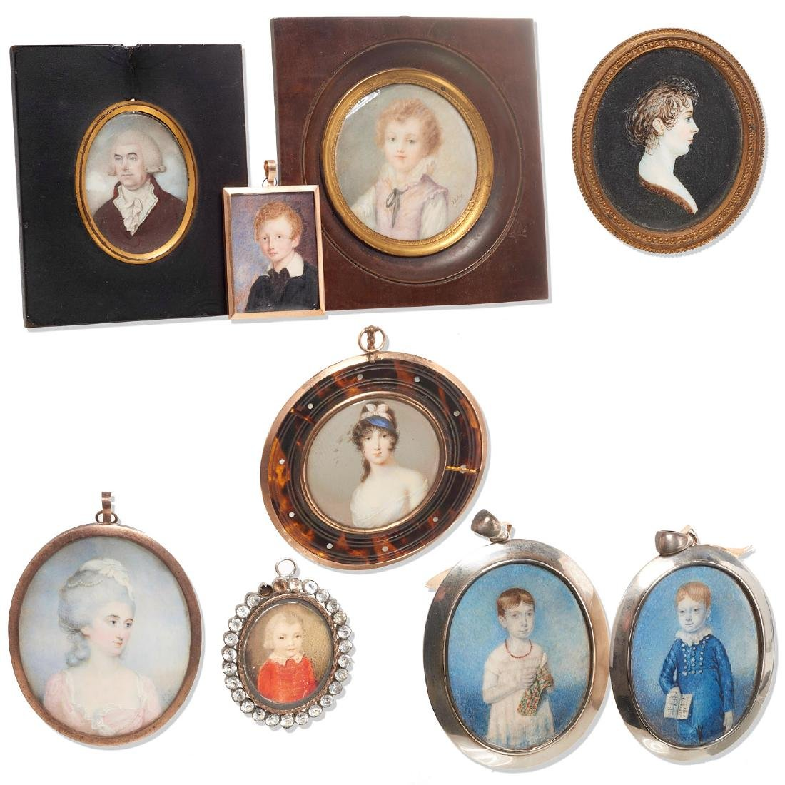 Nice collection European portrait miniatures