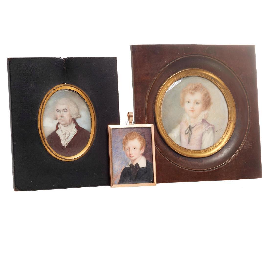 Nice collection European portrait miniatures - 2