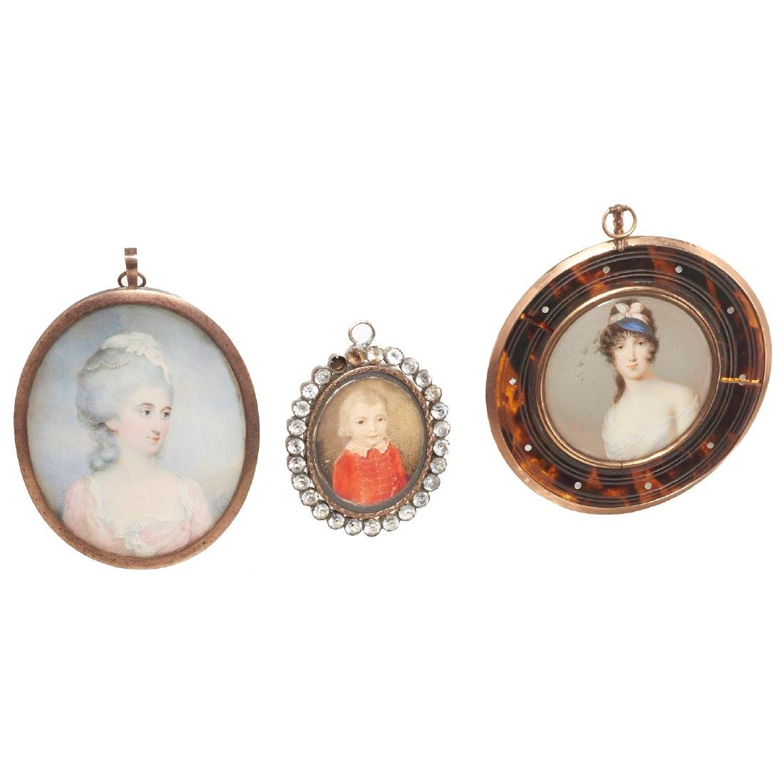 Nice collection European portrait miniatures - 7